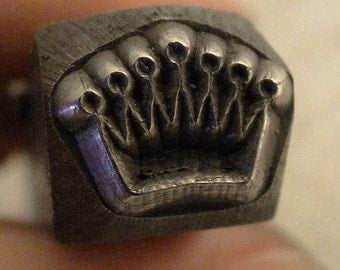 Design Stamp - CROWN - 1/4 inch (6mm) - included How to Stamp Metal tutorial
