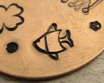 Big Design Stamp - FISH - 1/4 inch (6mm) - included How to Stamp Metal tutorial