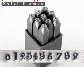 fun steel NUMBER stamps - by ImpressArt JEANIE - 4mm numbers - includes how to stamp metal tutorial