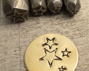 teeny tiny Design Stamp - STAR - 1/8 inch or 3-4mm - includes How to Stamp Metal tutorial