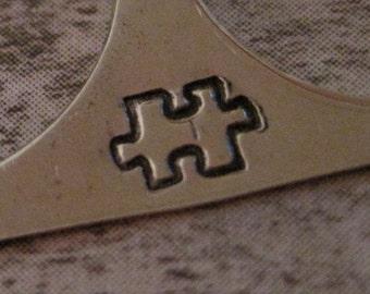 Design Stamp - PUZZLE PIECE by WonderStruck Studios - Autism Awareness - includes practice disk
