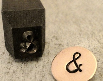 Ampersand - Gothic or Block - 5/16 inch (7mm) - add to your Gothic or Block letter monogram set