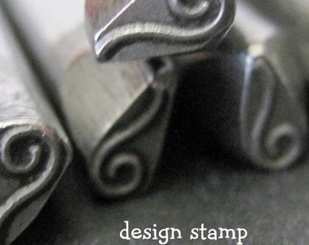 Design Stamp - LONG CURL - includes How to Stamp Metal tutorial
