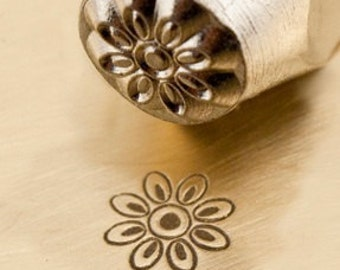 Design Stamp - FLORET - 6mm stamped image by ImpressArt -  includes How to Stamp Metal tutorial