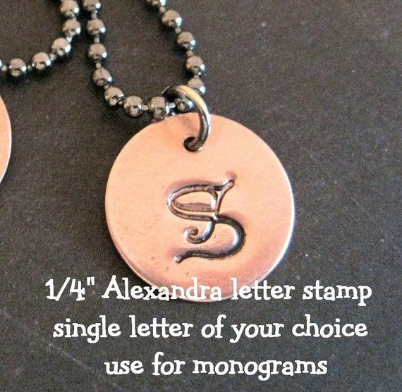 Single UPPERCASE Letter - steel stamp - ALEXANDRA by WonderStruck Studios - you choose the size and letter