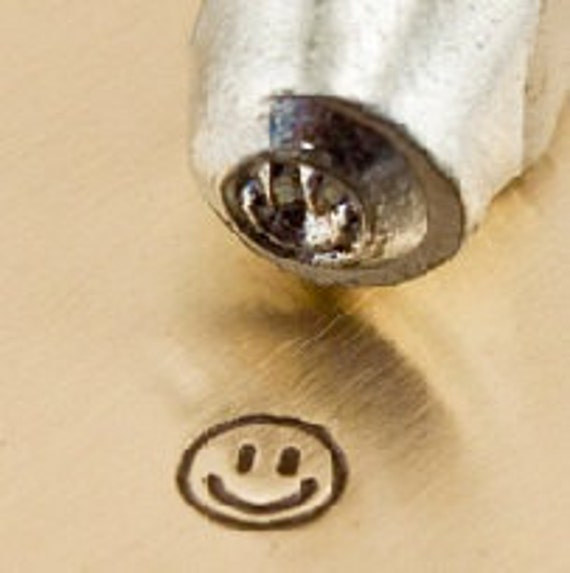 Design Stamp - SMILEY FACE - 3mm stamped image by ImpressArt -  includes How to Stamp Metal tutorial