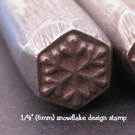 Design Stamp - SNOWFLAKE - with stamping tutorial