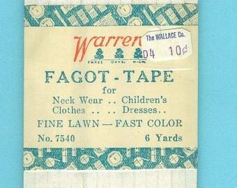 Fagot Tape Vintage Needlework Supply Collectors  Item