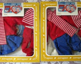 Vintage Effanbee Bobbsey Twins Winter Wonderland  Outfits Freddie and Flossie