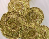 Solid French Brass curtain Tie Backs Set of 6
