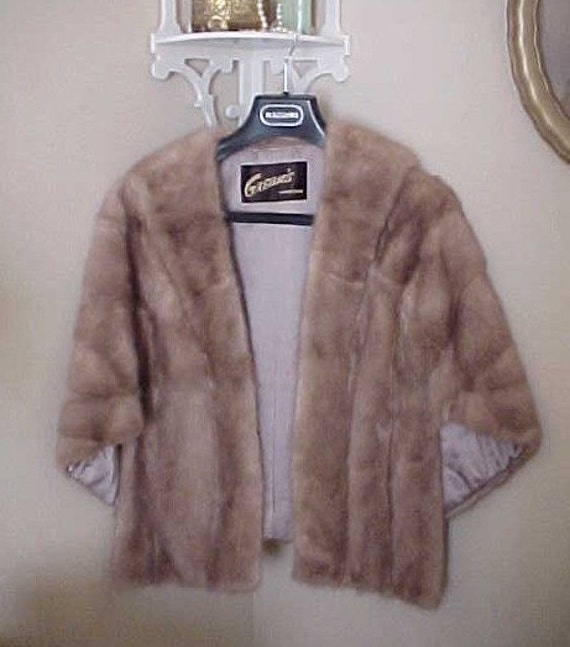 Vintage Mink Wrap Coat