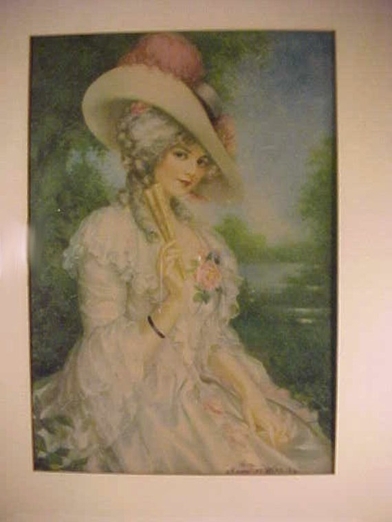 1911 Lithograph J. Knowles Hare JR. Victorian Woman