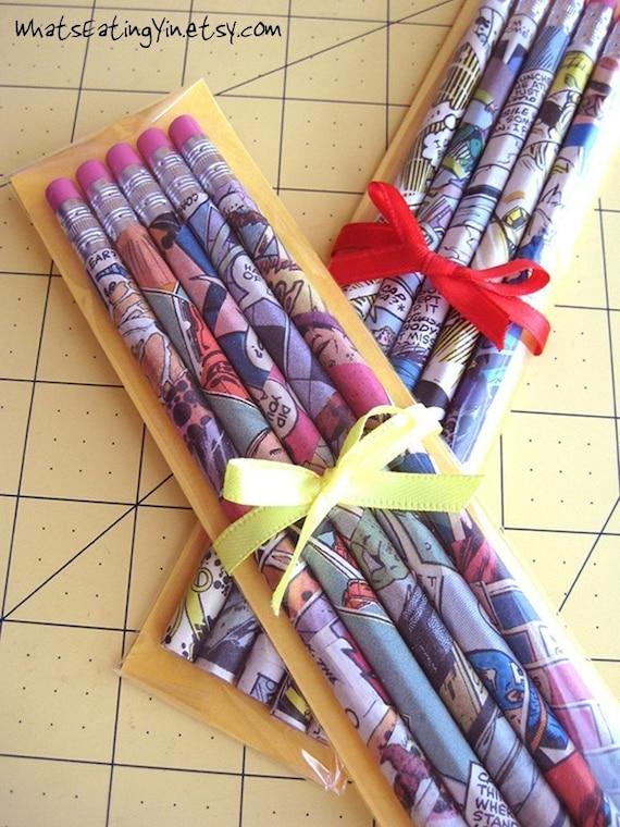 Superhero Pencils (1 Set of 5 Pencils No. 2 HB)