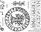 Runes and Sigils (unmounted rubber stamps)