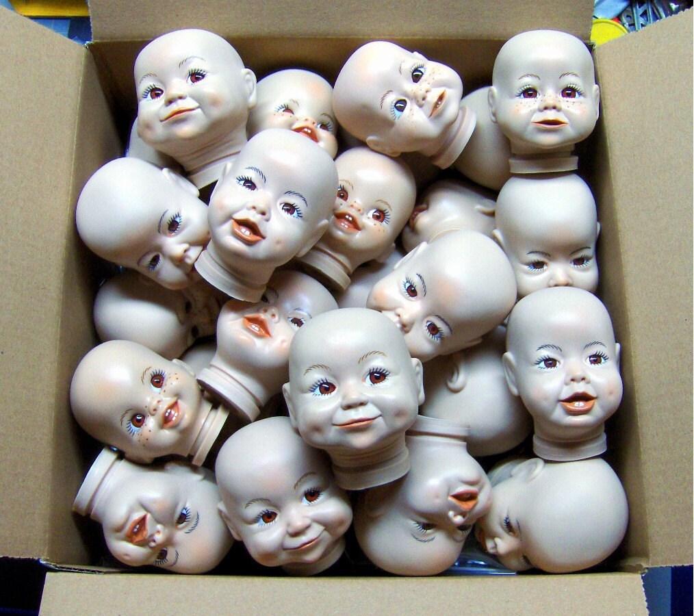 Half Price SMALL Dada Doll Heads Sale last box lot of 12