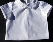 Boy's White shirt with Peter Pan Collar