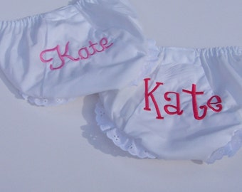 Personalized Baby Bloomers Gift Set