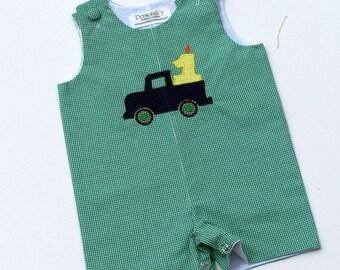 Birthday Truck Jon Jon, 1st birthday outfit, 2nd birthday outfit, birthday romper