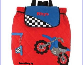 Personalized Stephen Joseph Motorcross Backpack