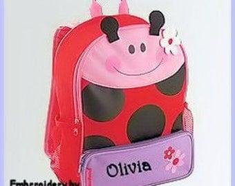 Toddler backpack- monogram backpack- personalized toddler backpack- backpack diaper bag- Ladybug backpack  -  Back to school backpack