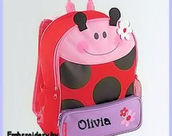 Personalized Stephen Joseph Ladybug Sidekick Backpack