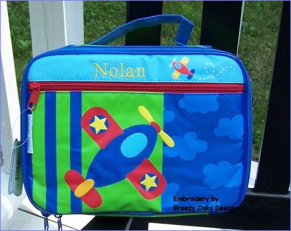 Personalized Stephen Joseph Airplane Lunchbox