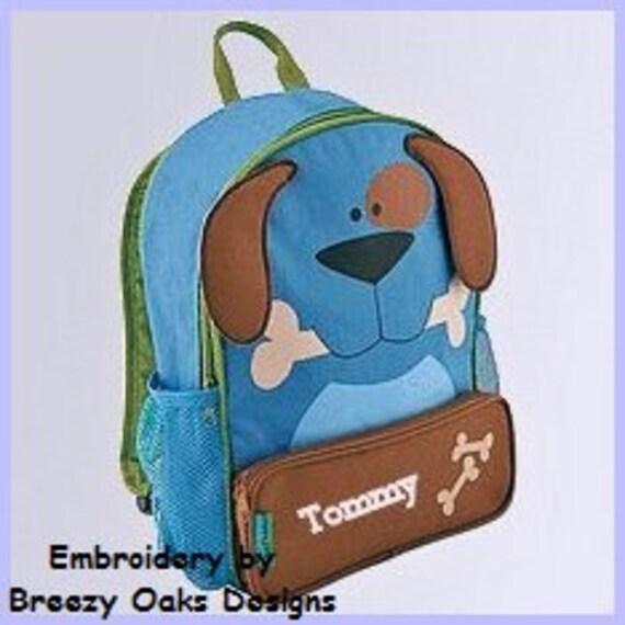 Personalized Stephen Joseph Dog Sidekick Backpack