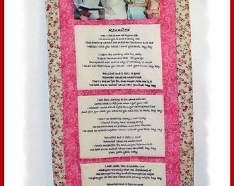 Handmade Customized Imprinted Photo and Text Wall Quilt