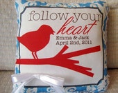 Ring Bearer Pillow - Bird on Branch