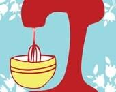 Red Mixer Kitchen Art Print 8x10 in YOUR custom color scheme