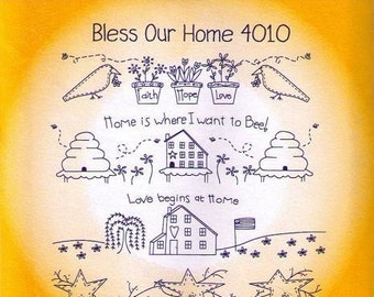 Bless Our Home Aunt Martha's Embroidery Transfer pattern