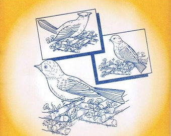 Birds Galore Aunt Martha's Embroidery Transfer Designs