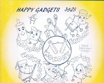 Happy Gadgets 3929 Aunt Martha's Embroidery Transfer Designs