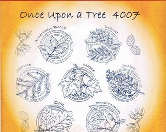 Once Upon A Tree Aunt Martha's Embroidery Transfer Designs Pattern