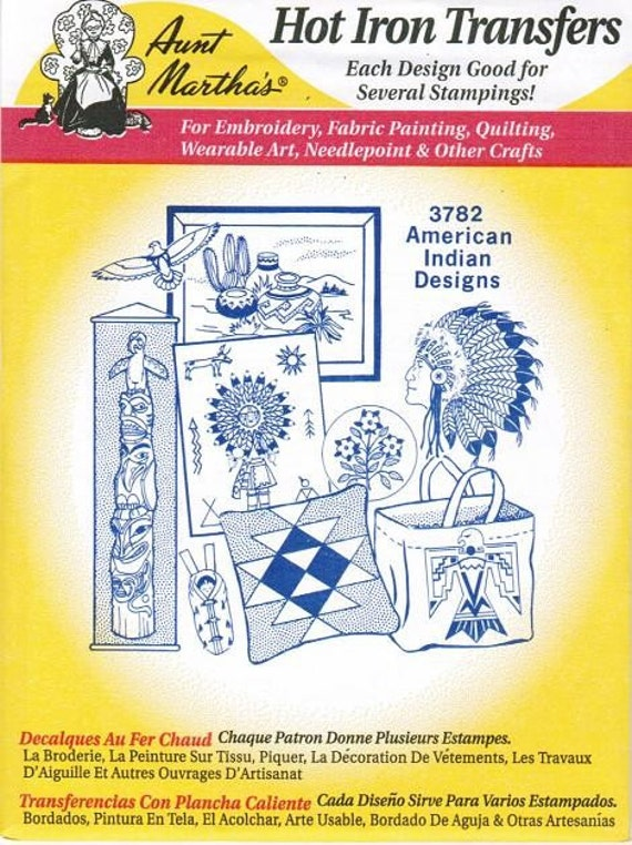 American Indian Aunt Martha S Embroidery Transfer Designs