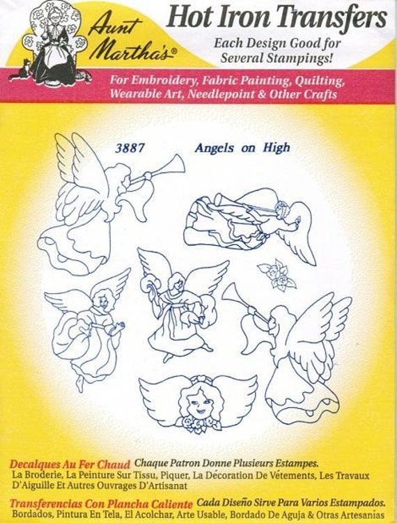 Angels Aunt Martha's Embroidery Transfer Designs Pattern