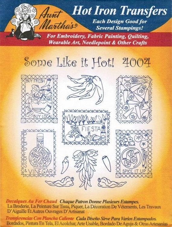 Some Like It Hot Aunt Martha S Embroidery Transfer Designs