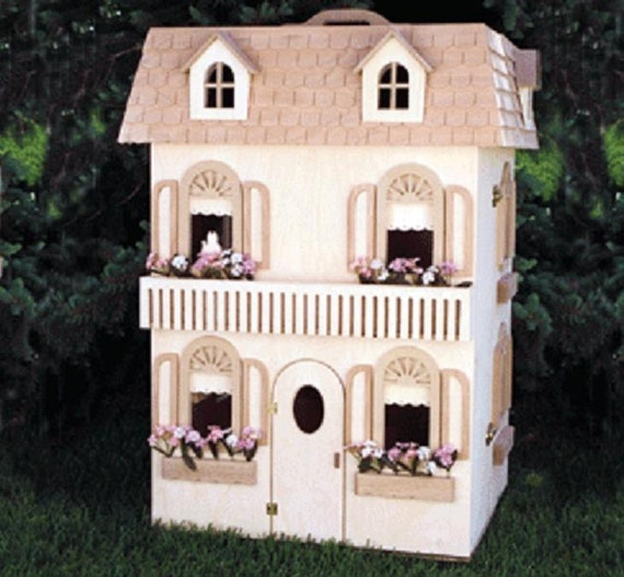 Items similar to classic barbie doll house woodworking for Plan victorian dollhouse