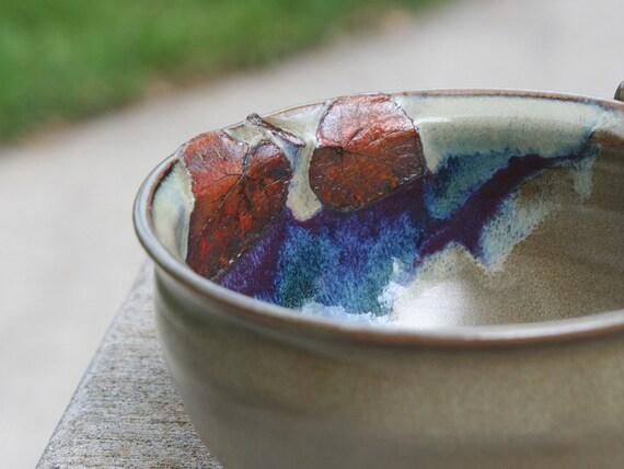 Stoneware Soup Bowl - Basswood Leaf Treehugger Bowl