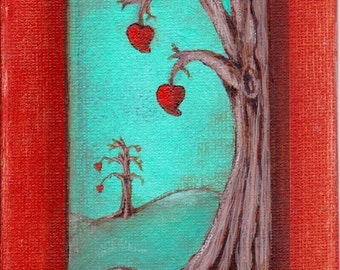 Print Trees Blooming Love EBSQ Rebecca Salcedo So Romantical