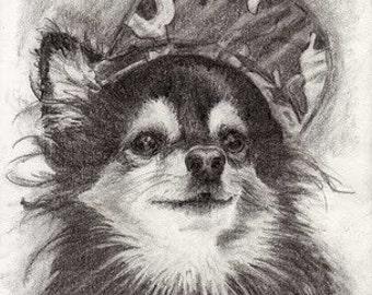 Giclee Print HOPE Princess Grace the Pomeranian RSalcedo A4C FFAW