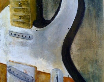 Giclee Print Telecaster Guitar Art by Rebecca Salcedo FFAW Free US Shipping