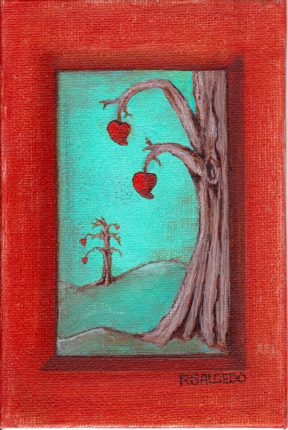 Print Trees Blooming Love EBSQ Rebecca Salcedo So Romantical