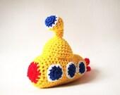 Crochet Pattern - Yellow Submarine - PDF Amigurumi Pattern
