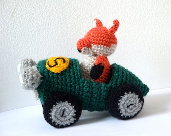 Crochet Car & Amigurumi Fox Pattern
