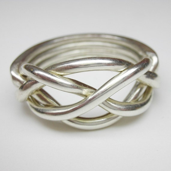 large puzzle ring in sterling silver plus by
