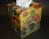 One Man is Super and The Other is a Bat Tissue Box Cover