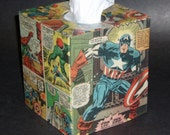 All American Super Hero Action Packed Tissue Box Cover
