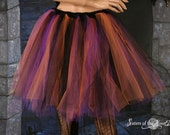 Witchy Woman Streamer adult tutu skirt halloween costume knee length goth gothic dance --You Choose Size -- Sisters of the Moon