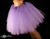 Light Purple Romance dance tutu skirt extra poofy knee length Adult bridal petticoat costume --You Choose Size -- Sisters of the Moon